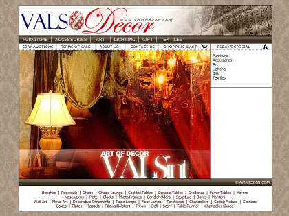 Desiger collection from VALSDescor.com