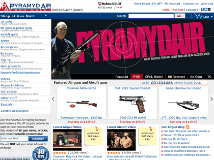 Great deals on air guns...